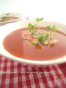 エンザエムたっぷりトマトスープ