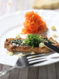 パルミジャーノ レッジャーノで豚ロース肉の照り焼き