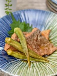 【適糖生活】鮭とオクラの南蛮漬け