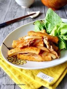 節約レシピ*厚揚げの生姜焼き