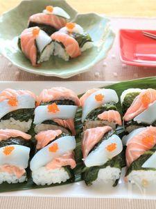サーモンといかの手綱寿司