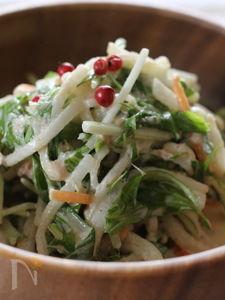 水菜とツナのシャキシャキサラダ