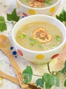 とろとろ!すりおろしれんこんと生姜のあったかスープ