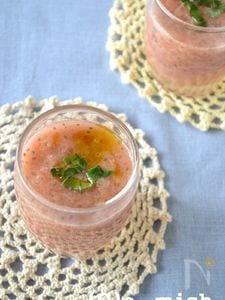 【チアシード】トマトのガスパチョ風スープ