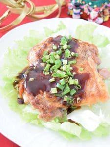 鶏もも肉のソテー バーベキューソース