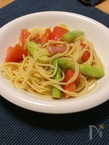 夏バテで食欲がないときに!佐賀県アスパラとトマトの冷製パスタ
