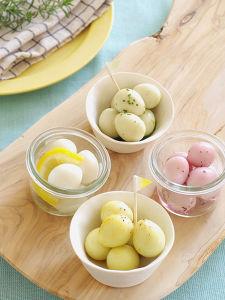 うずら卵の春色ピクルス