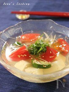 彩どり野菜 冷やし豆腐