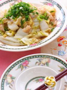 白菜の中華風カニあんかけ