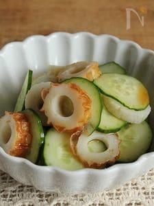 簡単!1分で作れる副菜♪ちくわときゅうりポン酢
