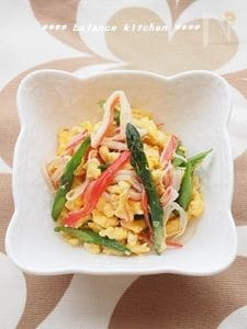 お弁当のすきまおかず。彩り3色炒り卵