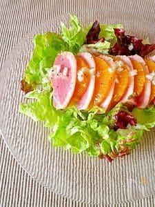 鴨のスモークとオレンジのサラダ
