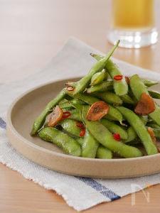 つまみ食いが止まらない!!枝豆ペペロンチーノ