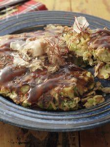 シャキシャキレタスと豆苗のお好み焼き〜ヘルシーde肌美的