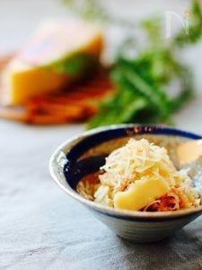 パルメザンチーズと茗荷のおかか和え