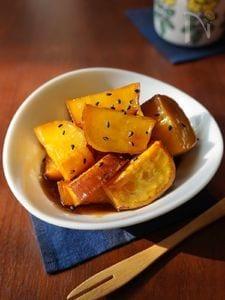 メープルシロップで!すっきりした甘さの大学芋