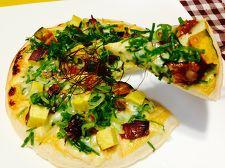 秋刀魚と秋の彩り和風ピザ~味噌マヨソース~