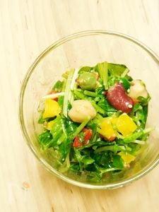 お豆と豆苗のサラダ