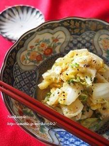 炒め白菜の胡麻卵和え
