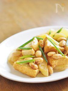 厚揚げと大豆のカレー炒め