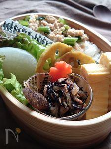 マヨワインでしっとり〜鶏むね肉のそぼろ煮(常備菜)〜お弁当
