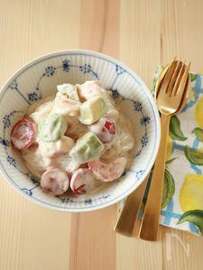 しらたきで!豆腐クリームパスタ