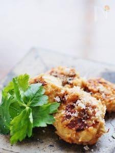 鶏挽きのつくね☆味噌パルミジャーノ・レッジャーノ・チーズ味
