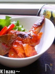 お弁当に〜手羽先のトマトパイン煮(甘麹)〜