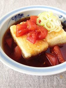 トマトあんかけ揚げだし豆腐