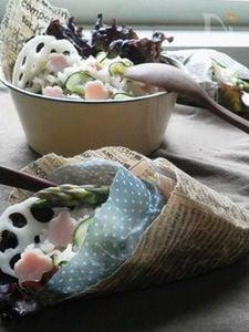 サラダクレープ風★~ツナで簡単ちらし寿司~