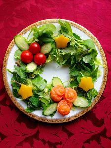サーモンのX'masリースサラダ