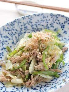 豚肉と野菜の炒め物、さっぱりゆずポン酢で!