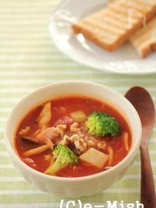 じゃが芋とツナのトマトスープ