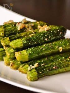 【野菜のロースト】ベビーズッキーニのガーリックロースト