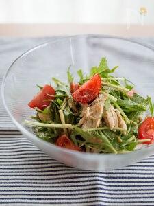 ささみと水菜の棒棒鶏風サラダ