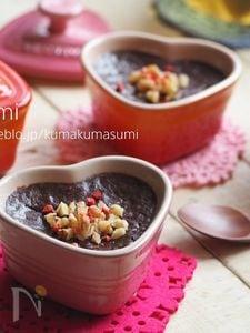 本命バレンタインに!簡単おいしい焼きチョコプリン