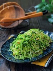 キッチンバサミで!*豆苗と春雨のツナカレー風味サラダ*