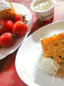 トマトのヘルシーシフォンケーキ♪