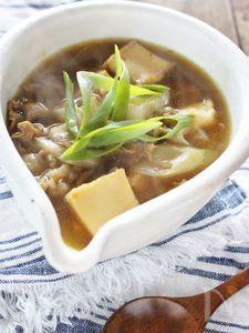 厚揚げのカレースープ