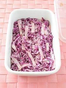 紫キャベツとハムのコールスローサラダ 作り置きレシピ