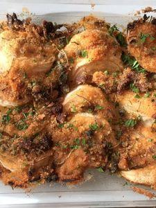 オーブンにお任せ♪新玉ねぎの香草パン粉焼き