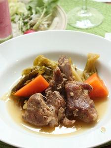 豚肉とキャベツの蒸し煮 ゴマ風味