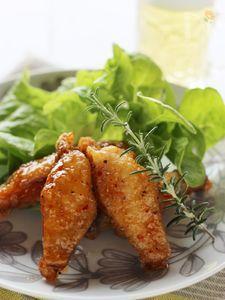 鶏手羽中の揚げ焼き、簡単甘辛ソース