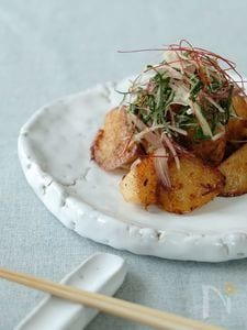 薬味と食べる長芋のしょうが醤油焼き
