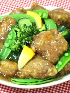 グリーンな野菜de酢豚