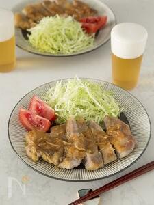 厚切り豚のボリューム生姜焼き