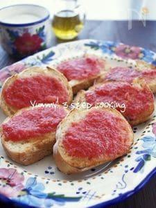 すぐに出来てとっても美味しいスペイン料理♪パンコントマテ