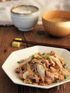 豚肉とキャベツのくるみ味噌炒め