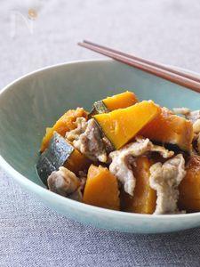 定番を美味しく。豚こま肉とかぼちゃの煮物