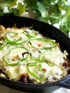 ストウブで牛肉と野菜の重ね焼き
